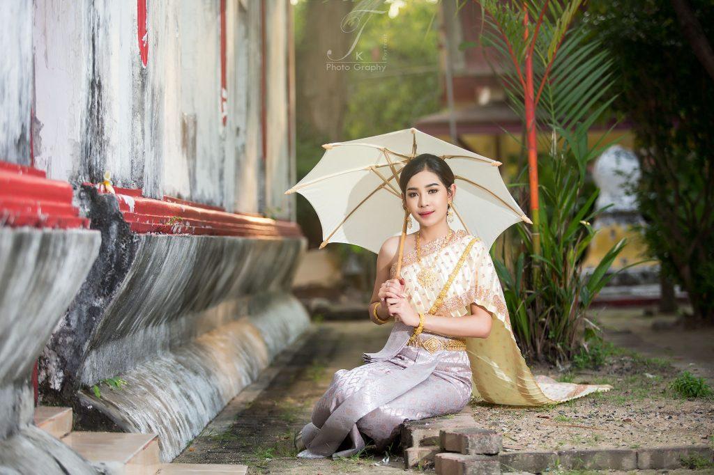 Thai dress travel in phuket thailand